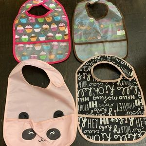 Baby girl washable bibs